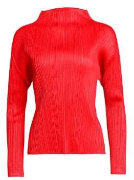 Pleats Please Issey Miyake Monthly Colors Long-Sleeve Top