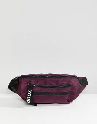 Yourturn YOURTURN bum bag in purple with adjustable strap