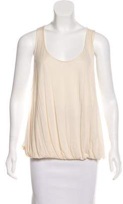 Halston Sleeveless Ruched Tops
