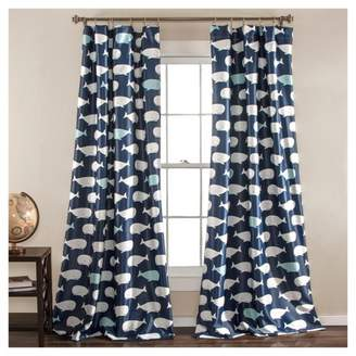 Lush Decor Whale Window Curtain