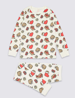 Marks and Spencer Pusheen Cotton Pyjamas with Stretch (9-16 Years)