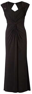 Sabrina Chesca Knitted Sequin Maxi Dress, Black