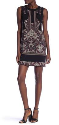 BCBGMAXAZRIA Printed Border Dress