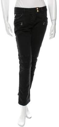 Balmain Moto Straight-Leg Jeans w/ Tags