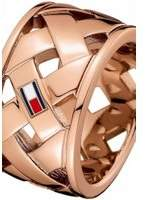 Tommy Hilfiger Jewellery Ladies Rose Gold Plated Classic Signature Ring Size P 2701025D