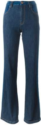 See by Chloe stripe appliqué flared jeans