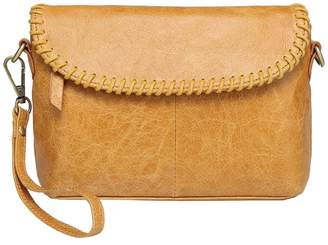 Vicenzo Leather Eloise Distressed Leather Crossbody/Clutch