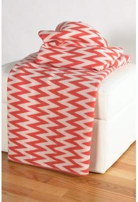 Wildon Home Destinie Woven Cotton Blanket
