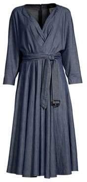 Max Mara Oggetti Denim Midi Dress