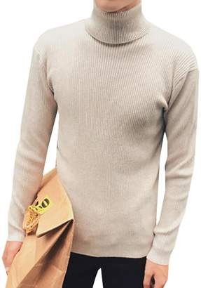 CFD Men's Classic Slim Fit Turtleneck Pullover Thermal Sweaters L