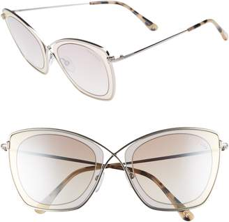 Tom Ford India 53mm Butterfly Sunglasses