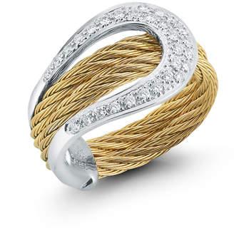 Alor 18k Diamond Pave Horseshoe Ring, Size 7