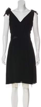 RED Valentino Sleeveless V-Neck Dress
