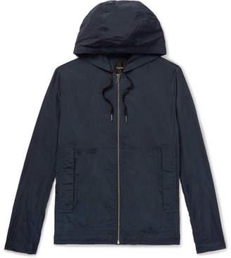Theory Ditmars Garment-Dyed Nylon Hooded Jacket - Men - Navy