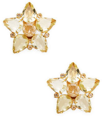 Bounkit 14K Yellow Gold Plated Quartz Star Studs