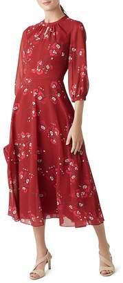 Hobbs London Samantha Floral Midi Dress