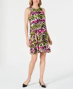 Kasper Tropical Print Dress