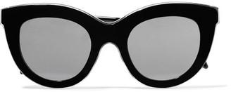 Victoria Beckham - Cat-eye Acetate Sunglasses - Black $500 thestylecure.com