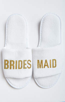 Show Me Your Mumu Brides Maid Slippers ~ White/Gold