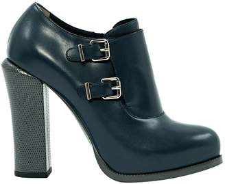Fendi Navy Leather Boots