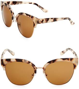 Fantas-Eyes FANTAS EYES Women's 58MM Clubmaster Sunglasses