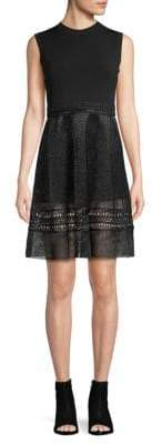 Valentino Textured Sleeveless A-Line Dress