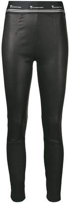 Alexander Wang leather logo leggings