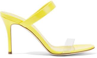 Giuseppe Zanotti Ali Patent-leather And Perspex Sandals - Bright yellow