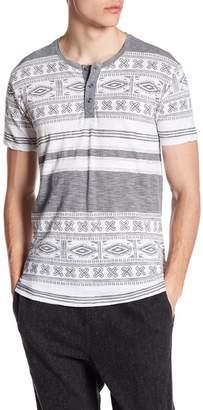 Indigo Star Bulbasaur Short Sleeve Geometric Print Slub Knit Tee