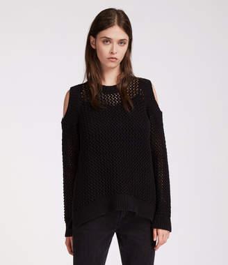 AllSaints Arzana Open Shoulder Sweater