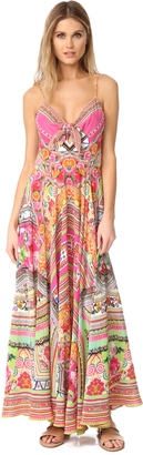 Camilla Hani Honey Long Dress With Tie Front $630 thestylecure.com
