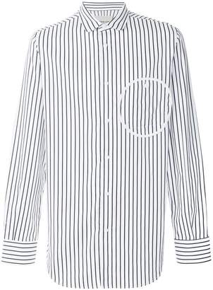 Corelate circle detail striped shirt