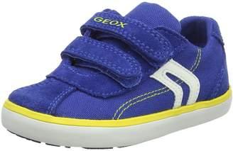 Geox Boy's B Kilwi BOY Sneakers, Black/Orange