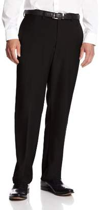 Haggar Men's Big and Tall Repreve Stria Plain Front Dress Pant