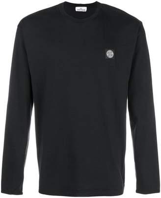 Stone Island chest logo sweatshirt