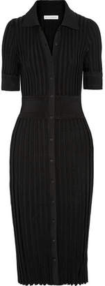 Olivia Ribbed Stretch-knit Dress - Black