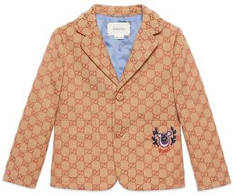 Gucci Children's GG canvas jacket with lyre