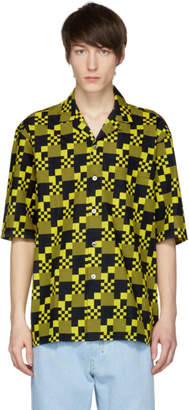 Etudes Black and Yellow Souvenir Checked Shirt