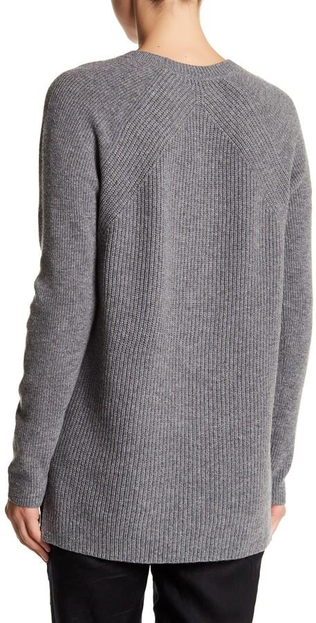 VINCE. Crew Neck Long Sleeve Wool Blend Sweater 2