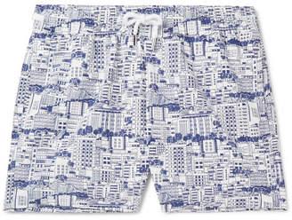 Frescobol Carioca Predios Short-Length Printed Swim Shorts