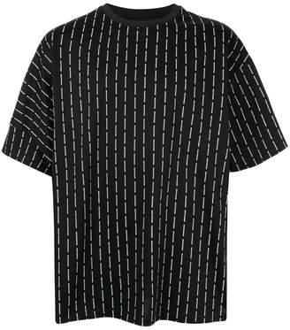 Wooyoungmi logo stripe oversized T-shirt