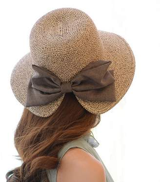 at Amazon Canada · Labellevie Womens Floppy Summer Sun Beach Straw Hat  Foldable Wide Brim 0e2770bd2fb6