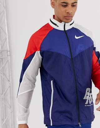 Running BRS pack track jacket in blue