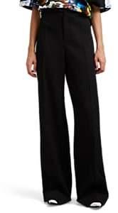 Maison Margiela Women's Wool Twill Wide-Leg Trousers - Black