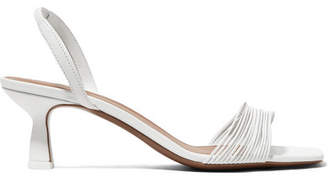 Neous Rossi Leather Slingback Sandals - White