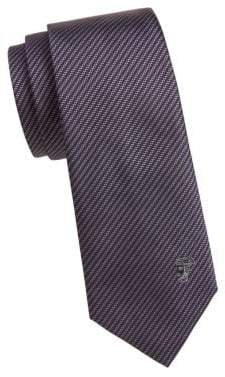 Versace Silk Diagonal Stripe Tie