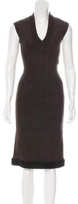 Alaia Sleeveless Midi Dress