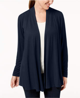 Karen Scott Petite Open-Front Cardigan, Created for Macy's