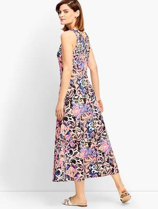 Talbots Casual Jersey Maxi Dress - Abstract Blossoms