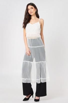 Glamorous Ruffle Detail Strap Dress White
